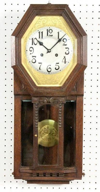 AN ART NOUVEAU WALL CLOCK (REGULATOR) Junghans