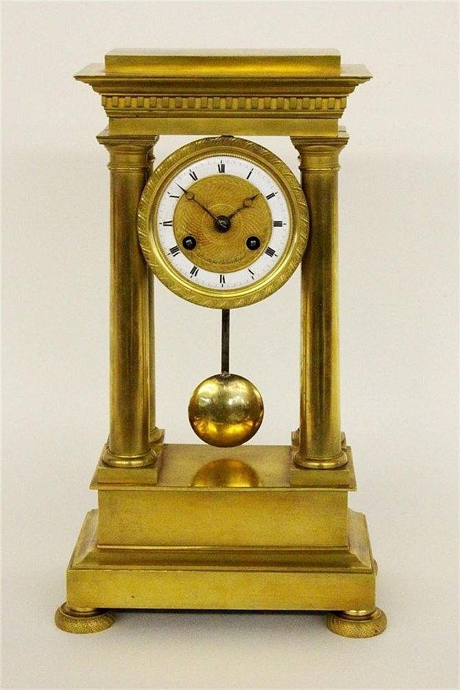 A SMALL EMPIRE COLUMN CLOCK Alexandre Destape