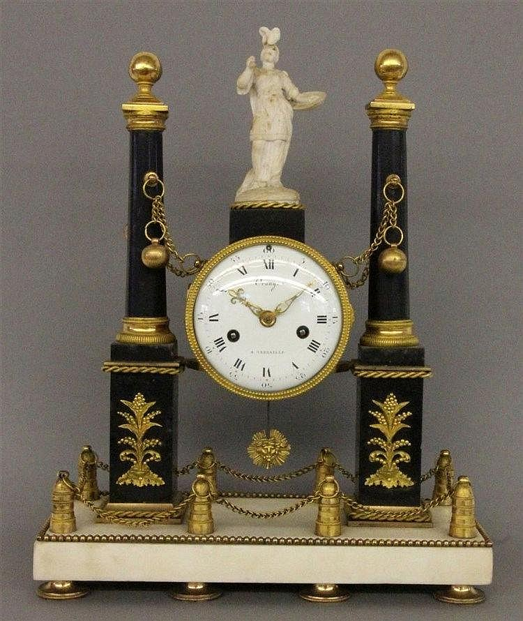 A LOUIS XVI (DIRECTOIRE) COLUMN CLOCK Orange a