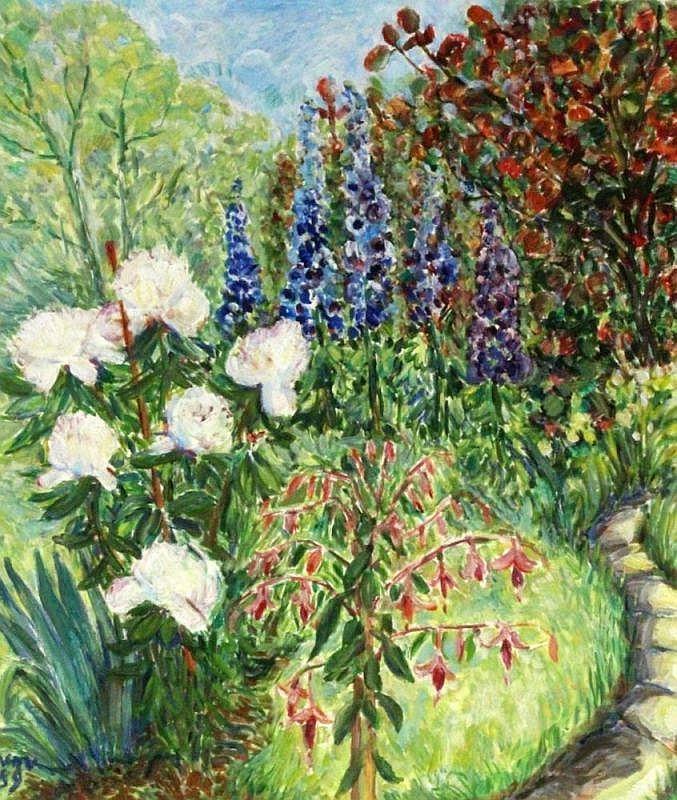 VRING, LORENZ VON DER 1932 - 2015 Flower garden