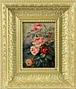 GARNIER, M. France ca. 1900 Bouquet of roses. Oil