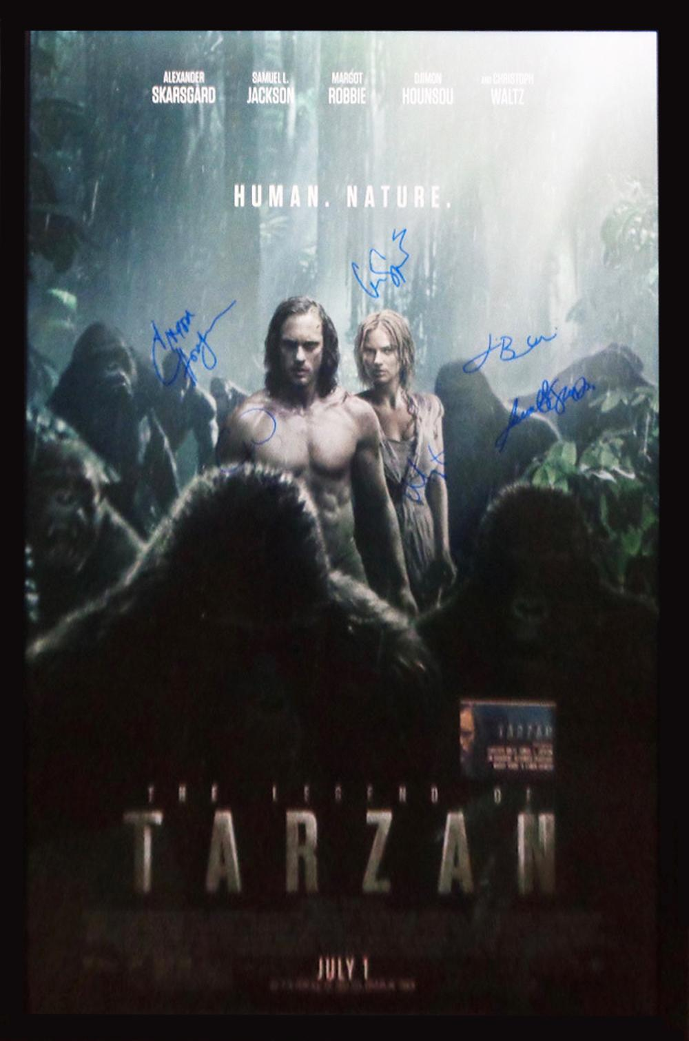 Sold Price Legend Of Tarzan 2016 Cast Signed Movie Poster April 5 0119 10 00 Am Pdt