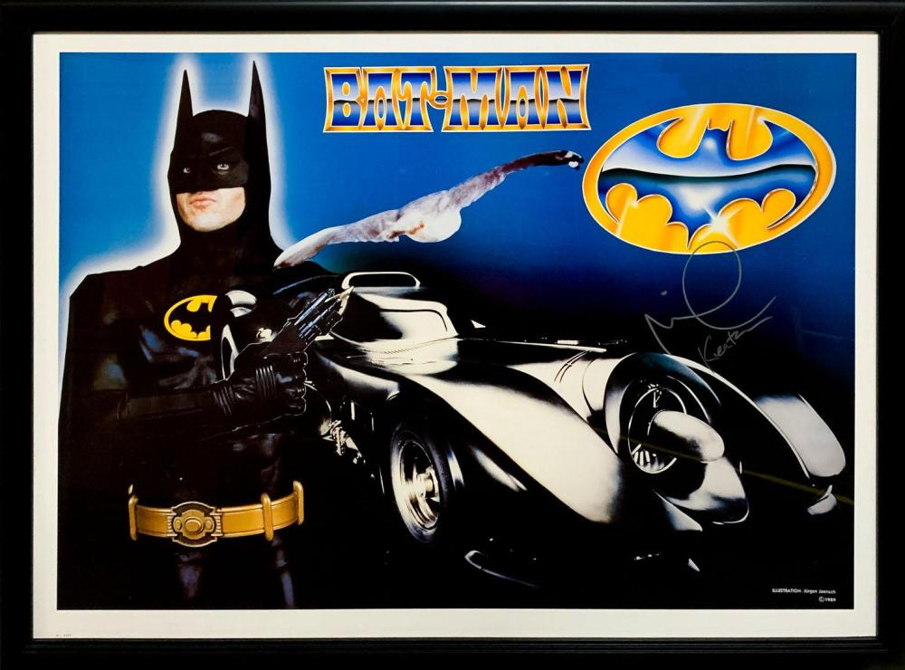 """Batman"" (1989) Original Michael Keaton signed Poster"