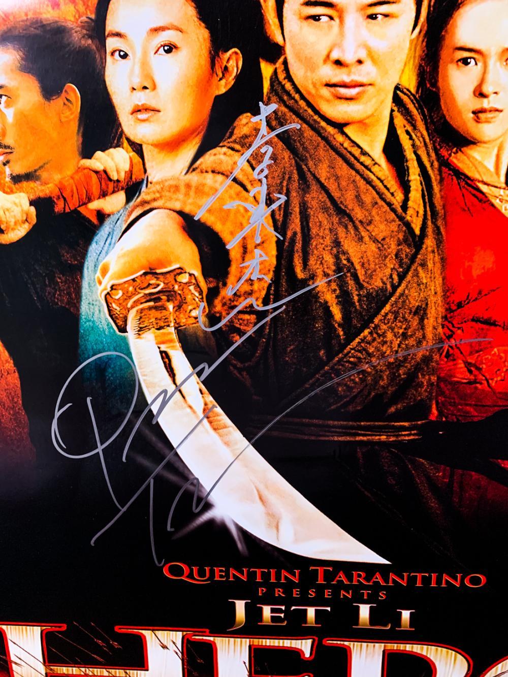 Sold Price Hero 2002 Jet Li Quentin Tarantino Signed Movie Poster September 6 0119 11 00 Am Pdt