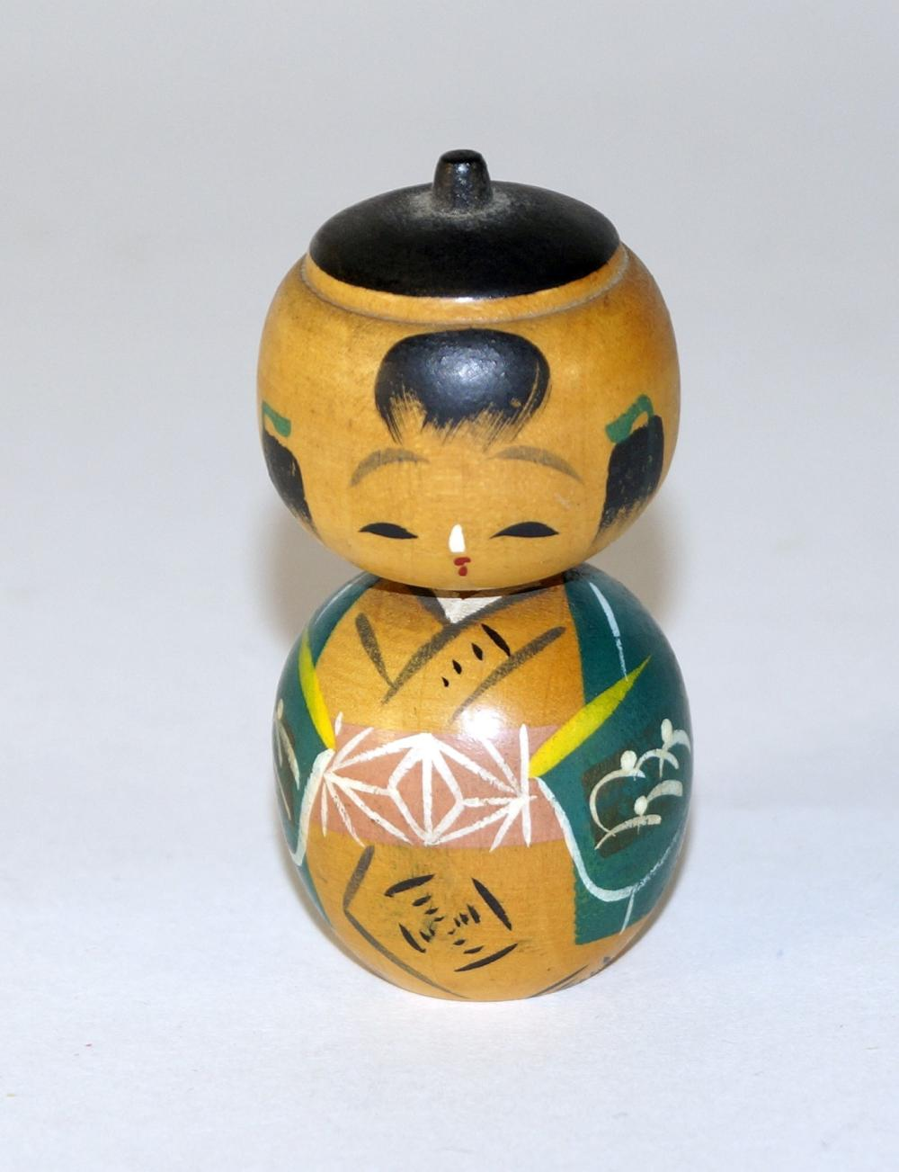Japanese Sosaku Donko Kokeshi Doll, boy