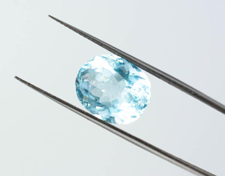Blue Aquamarine 6.91 ct