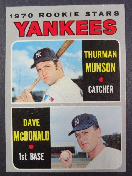 1970 Topps #189 Thurman Munson Rookie EX