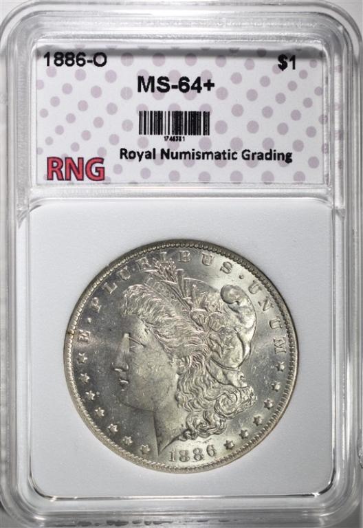 1886-O MORGAN DOLLAR RNG CH BU+