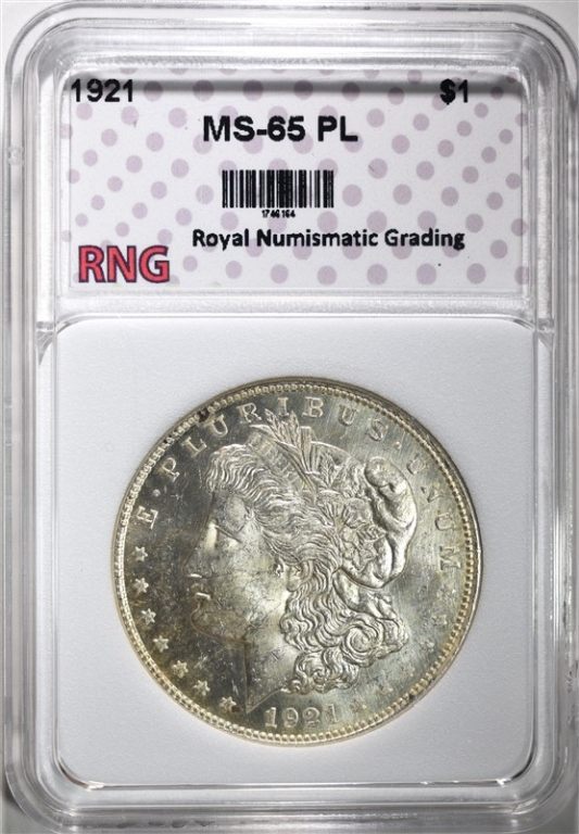 1921 MORGAN DOLLAR RNG GEM BU PL