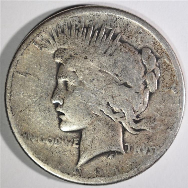 1921 PEACE DOLLAR VG