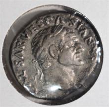69-79 AD SILVER DENARIUS EMPEROR VESPASIAN