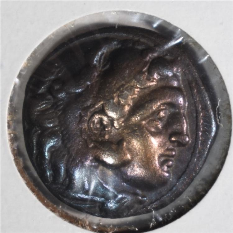 336-323 BC SILVER DRACHM