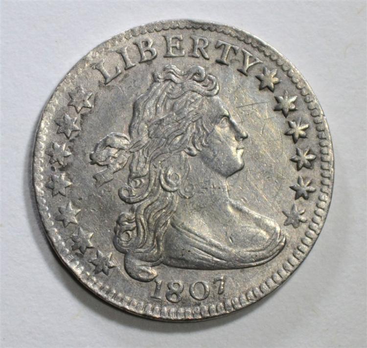 1807 DRAPED BUST DIME CH BU