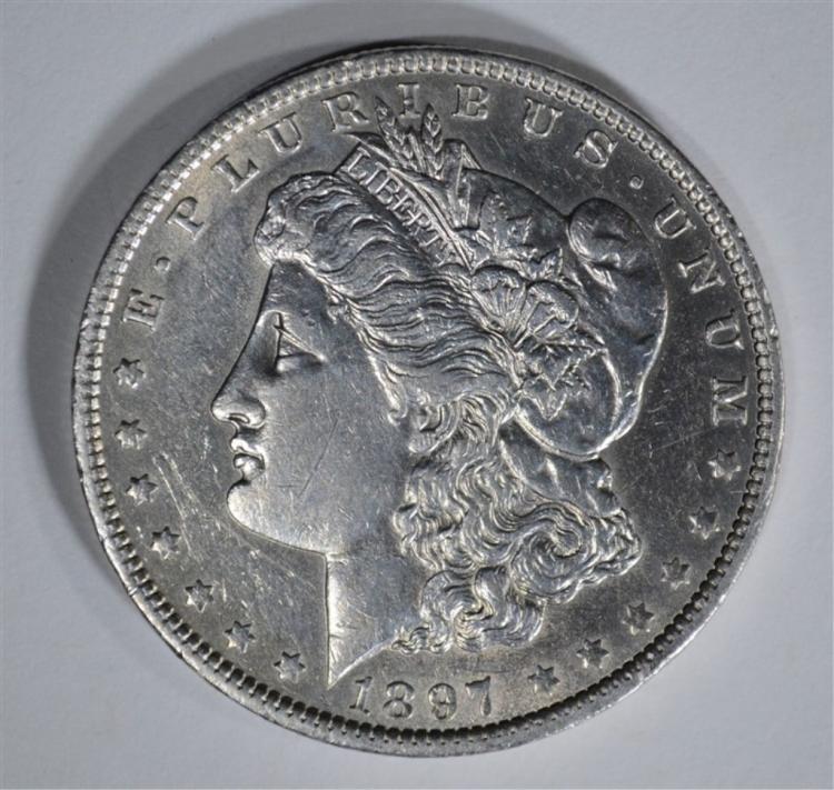 1897-O MORGAN DOLLAR AU+