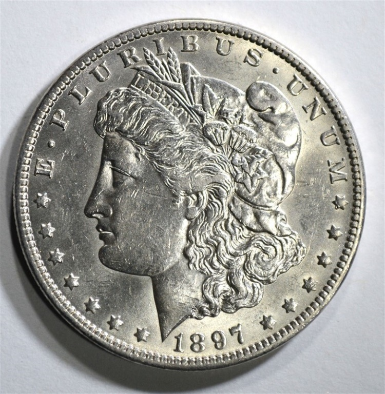 1897-O MORGAN DOLLAR AU/BU