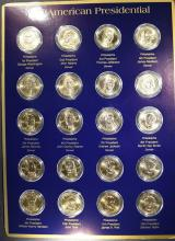 U.S. PRESIDENTIAL DOLLARS: 15 IN BAGS, 6 DIFF IN PLASTIC: 29 IN ALBUMS