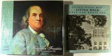 U.S. MINT LITTLE ROCK COIN AND MEDAL SET & 1706 - 2006 BENJAMIN FRANKLIN COIN &