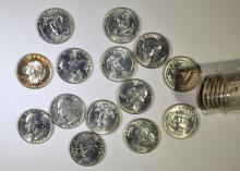 MIXED DATE SILVER WASHINGTON QUARTER  ROLL ( 40 ) COINS