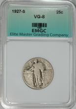 1927-S STANDING LIBERTY QUARTER,  EMGC VG