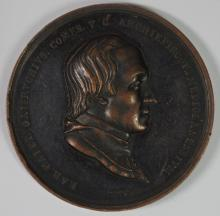 1818 BRONZE VATICAN MEDAL: CARDINAL COMES, RARE!!