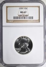 1951 WASHINGTON QUARTER - NGC MS67
