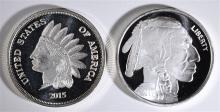 ( 2 ) DIFFERENT ONE OUNCE .999 SILVER ROUNDS
