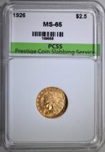 1926 $2.5 GOLD INDIAN HEAD PCSS GEM BU