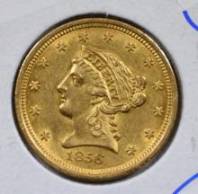 1856 $2.5 GOLD LIBERTY CH BU