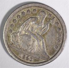 1840 SEATED DIME, AU