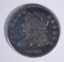 1829 CAPPED BUST DIME, VF
