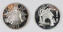 2 -  ONE OUNCE .999 SPECIALTY ROUNDS:  CLASS OF 2012 & 2013 CHRISTMAS MANGER