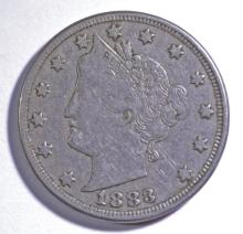 1883 LIBERTY NICKEL WITH CENTS, VF