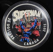 2015 $20 FINE SILVER DC COMICS - ICONIC SUPERMAN #28
