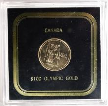 1976 BU CANADA GOLD OLYMPIC $100.00 1/4 OUNCE
