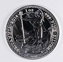 2014 BRITISH BRITANNIA ONE OUNCE .999 SILVER COIN