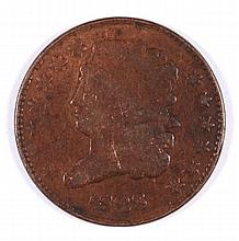 1828 HALF CENT (13 STARS) VG