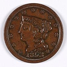 1853 HALF CENT AU-58
