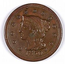 1850 LARGE CENT XF-45