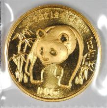 1986 1 oz .999 GOLD CHINA PANDA - SEALED ORIG. PLASTIC  SUPERB GEM, RARE!