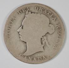 1891 SILVER CANADIAN QUARTER, KEY DATE
