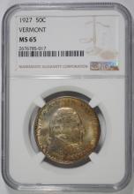 1927 VERMONT COMMEMORATIVE NGC MS-65