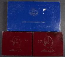 U.S. COMMEM LOT: 1986 2-PIECE LIBERTY &  2-PF WASHINGTON SILVER HALF DOLLAR