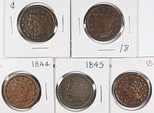 (5) LARGE CENTS (41, 43, 44, 45, 46)