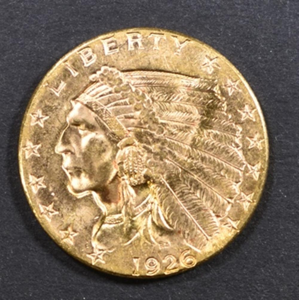1926 GOLD $2.5 INDIAN CH/GEM BU