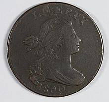 1800 LARGE CENT SHELDON 197 Q VARIETY XF QUITE NICE FOR EARLY COPPER
