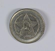 VERY RARE CIVIL WAR TOKEN STORY AND SOUTHWORTH GROCERS NY, NY STRUCK IN TIN R9