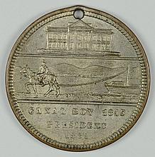 CAMPAIGN MEDAL 1881 ELECTION JAMES GARFIELD