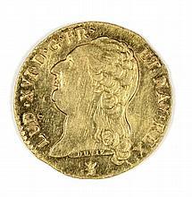 1787 FRANCE LOUIS D'OR GOLD KM 591.7 NICE ORIGINAL BU