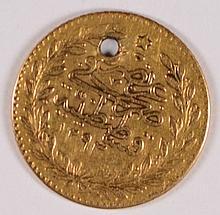 TURKEY KM #677 25 KURUSH GOLD SCARCE 1839-61 XF