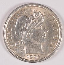 1893 BARBER DIME MS-63